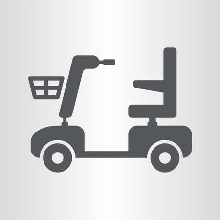 paralyze: Mobility scooter icon Illustration