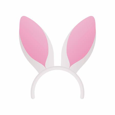 antifaz: máscara de Pascua con orejas de conejo blanco