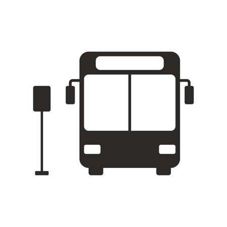 stop icon: Bus stop icon Illustration