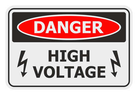 voltage sign: Danger High Voltage sign