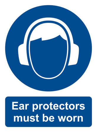 hearing protection: Ear protection sign