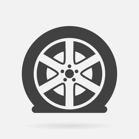 플랫 타이어 아이콘 일러스트