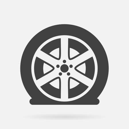 Flat pneu icône