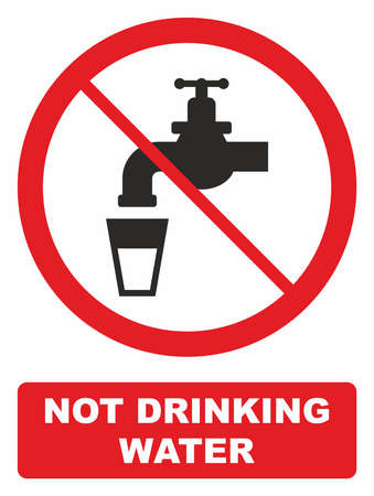 drains: Not drinking water sign