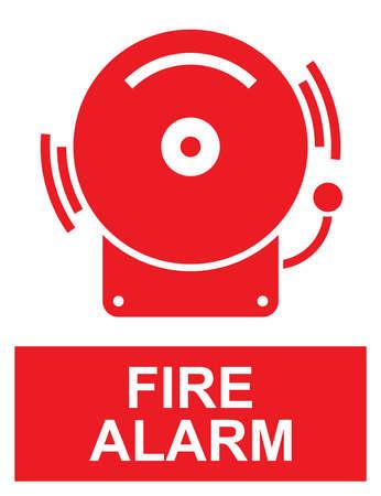 Fire alarm sign Çizim