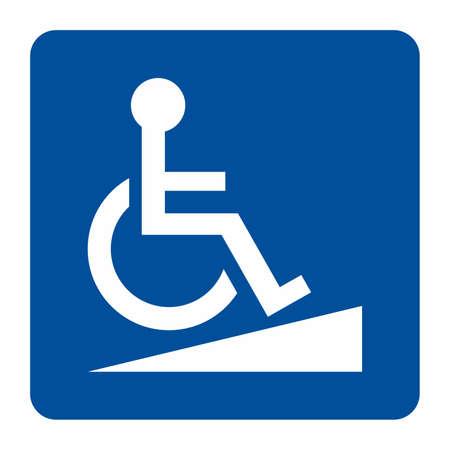 Access ramp sign