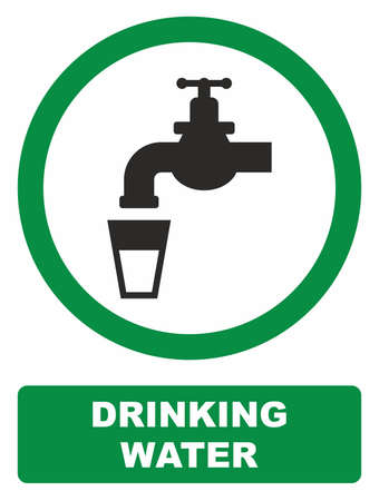 cleanness: Drinking water sign