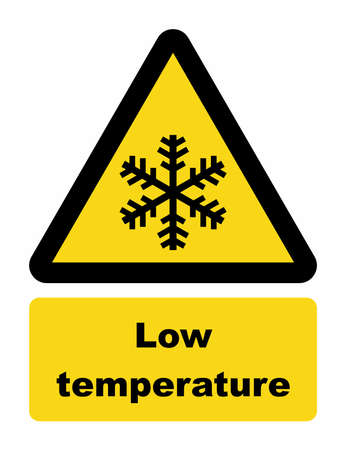 low temperature: Low temperature warning sign
