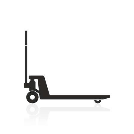 Hand pallet truck icon
