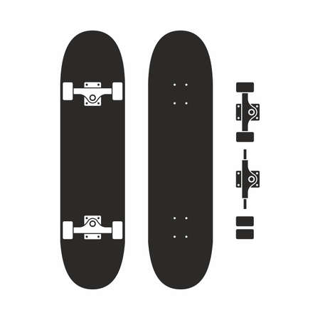 fingerboard: Skateboard icon set