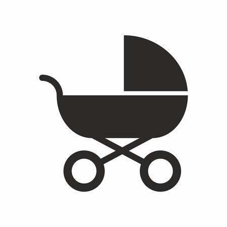 infantile: Baby carriage icon Illustration
