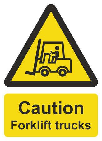 shipper: Forklift truck sign Illustration