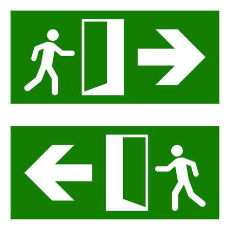 fire exit: Emergency fire exit sign Illustration