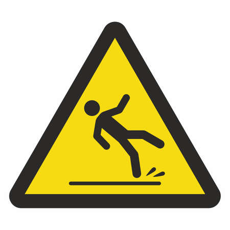 monition: Caution wet floor sign