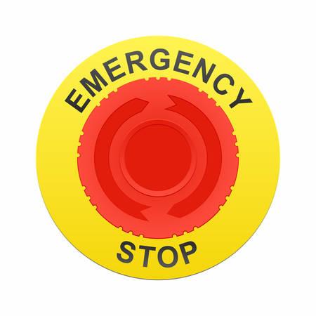 Emergency stop button Illustration