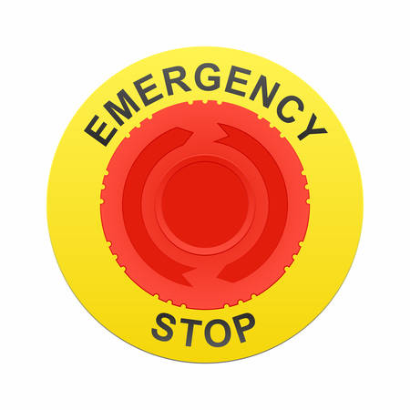 Emergency stop button Иллюстрация