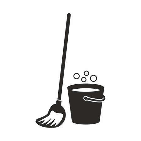 swab: Cleaning, mop icon