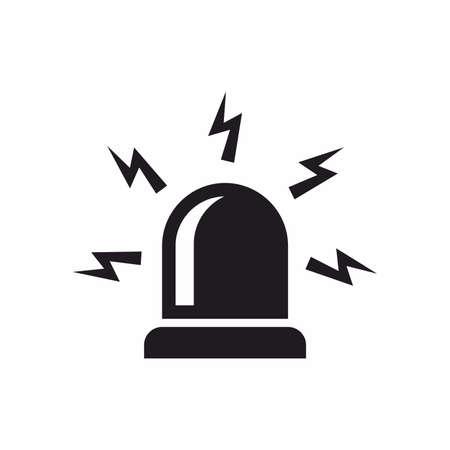 emergency attention: Emergency siren icon