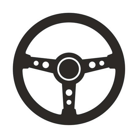 Steering wheel icon Stock Illustratie
