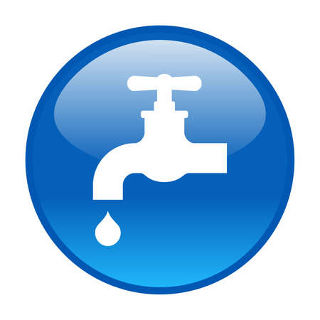 ooze: Water tap icon Illustration