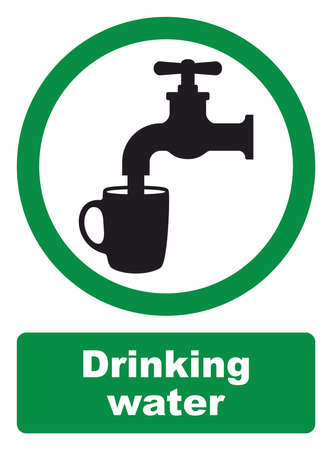 drinking water sign: Drinking water sign