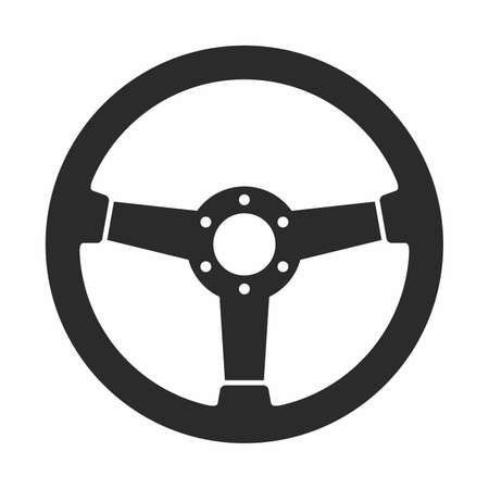 Steering wheel icon Illustration