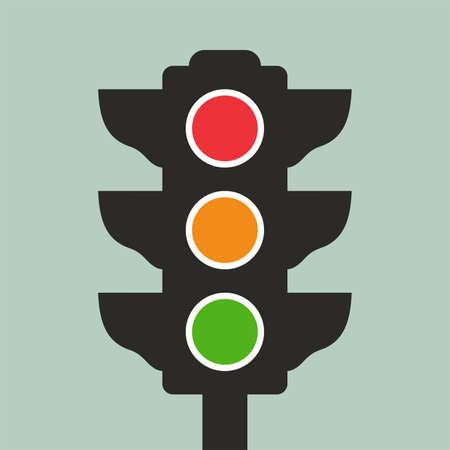 regulate: Traffic lights icon Illustration