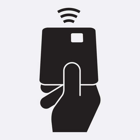 contactless: Contactless debit card icon