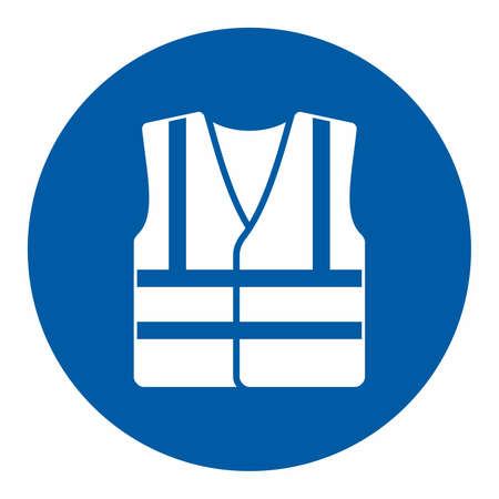 Mandatory action sign, Wear high visibility clothing Imagens - 71895978