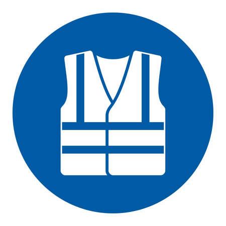 Obligatorisches Handlungszeichen, Tragen Sie hohe Sichtbarkeit Kleidung Vektorgrafik