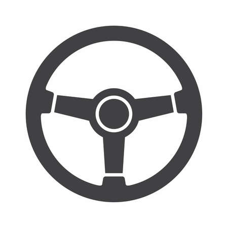 Steering wheel icon Illustration