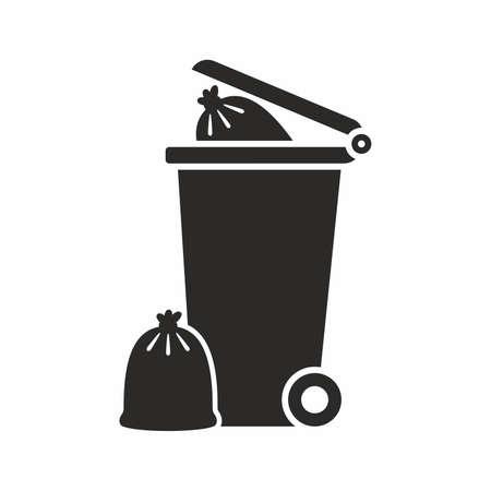 Wheelie bin icon Ilustração