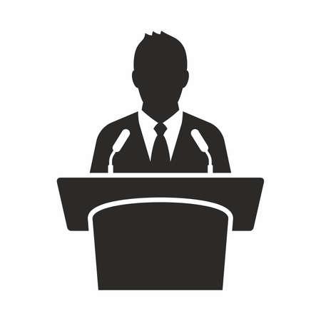 spokesman: Speaker icon Illustration
