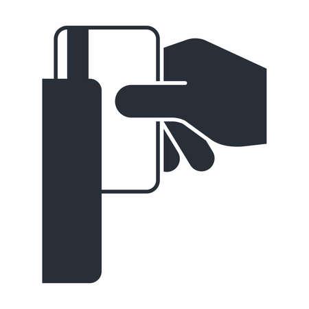 Swipe card icon Illustration