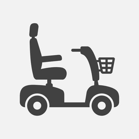 Mobility scooter icon Illustration