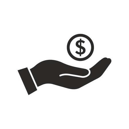 Money in hand. Vector icon. Ilustracja