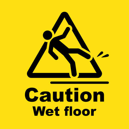 Caution wet floor sign Banco de Imagens - 99817786
