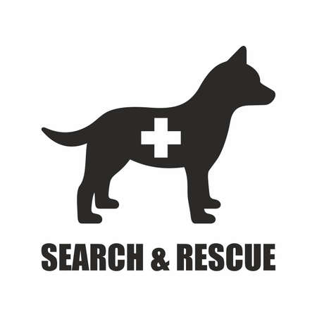 Search and rescue dog icon.