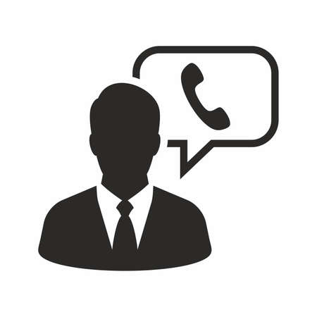 Customer support operator icon