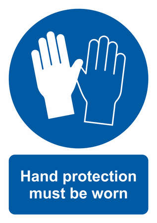 Safety sign, Hand protection must be worn