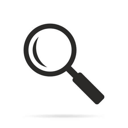 Search or magnifying glass icon. 向量圖像