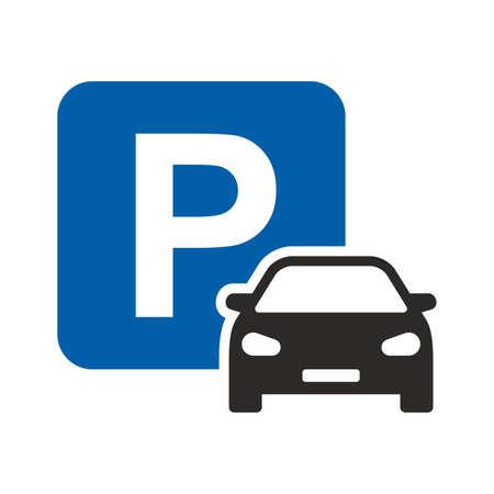 Car parking symbol vector illustration