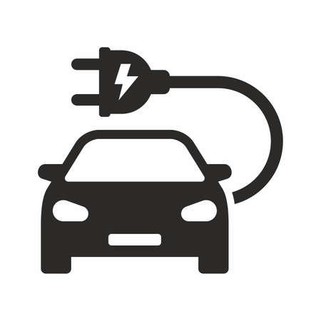 Electric car icon vector design