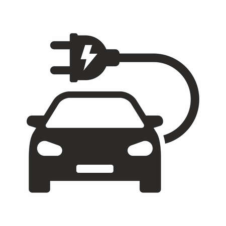Electric car icon vector design