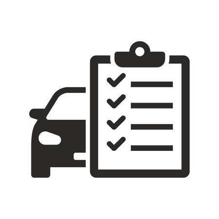 Car maintenance list icon Archivio Fotografico - 100083939