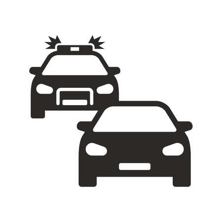 Car chase icon