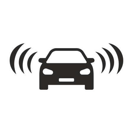 Car alarm icon Çizim