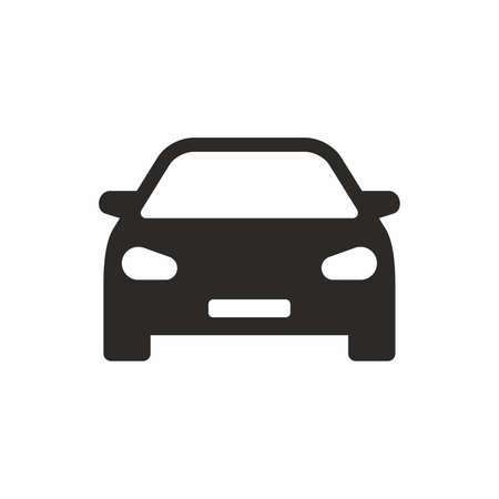 Car simple black icon