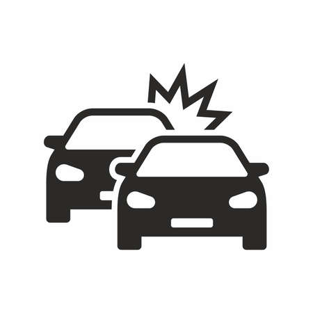 Car crash icon vector illustration Ilustração