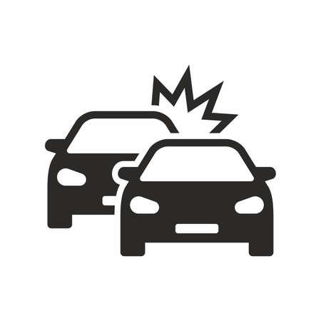 Car crash icon vector illustration Çizim